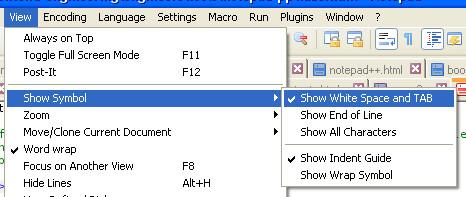 Notepad++ Tabs